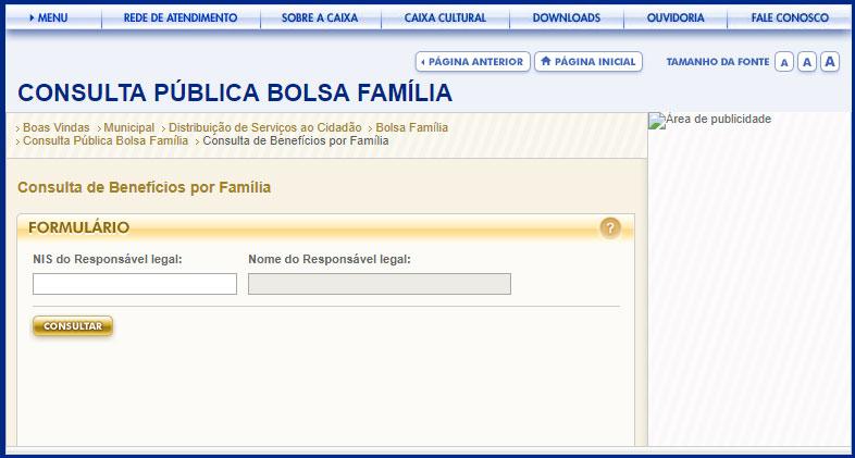Consulta por Família