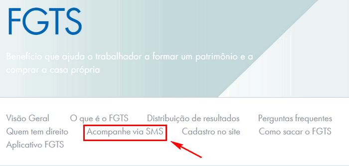 Acompanhe via SMS